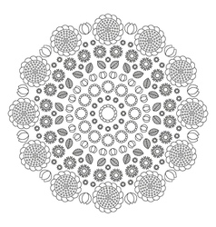 Adult coloring book page circular pattern mandala vector
