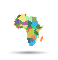africa map icon flat africa sign symbol with vector image
