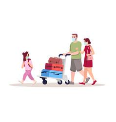 Airport departure semi flat rgb color parents vector