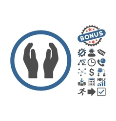 Applause Hands Flat Icon With Bonus vector image