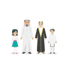 Arabian Family People Design Flat vector