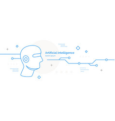 artificial intelligence conceptual poster vector image