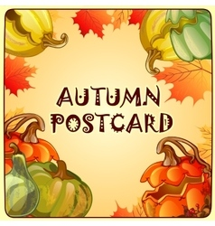 Autumn sketch with space for text vector image