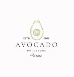 Avocado purveyors farm abstract sign vector