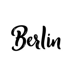 berlin hand-lettering calligraphy hand drawn vector image