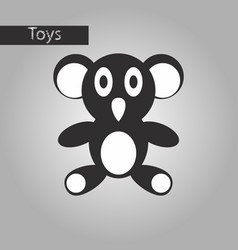Black and white style icon koala toy vector