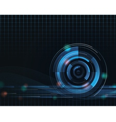 blue tech cyberspace swirl loop abstract wallpaper vector image