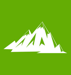 canadian mountains icon green vector image