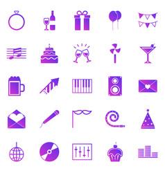 celebration gradient icons on white background vector image