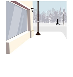 City street Scene vector image