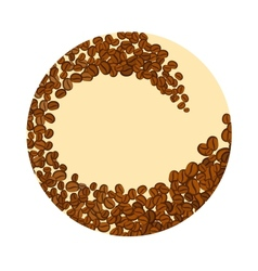 Coffee beans in a circle vector image