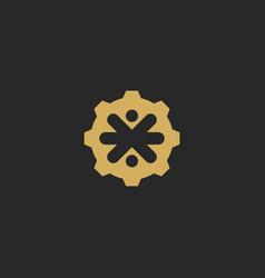 cogwheel abstract decorative logo vector image