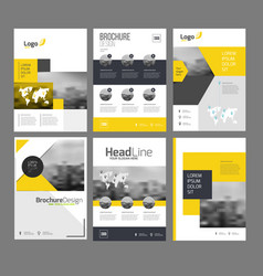 Company flyer set vector