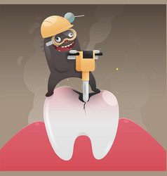 Concept with tooth health vector