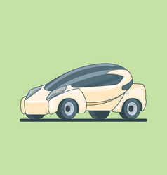 Conceptual electric car design template vector
