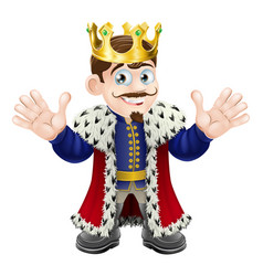 Cute king man vector