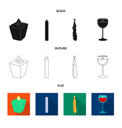 Design of relaxation and flame icon set of vector