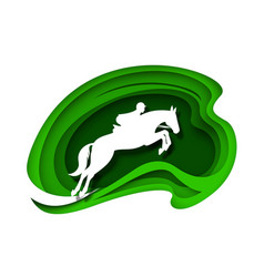 equestrian sport horse racing racehorse vector image