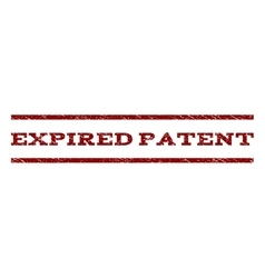 Expired Patent Watermark Stamp vector image