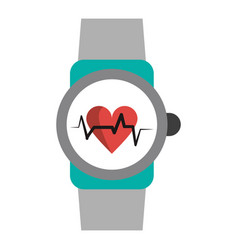Fitness smartwatch wearable technology vector