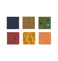 flat set 6 textures and materials vector image