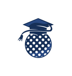Golf school graduation cap vector