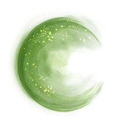 green circle splash brush watercolor vector image