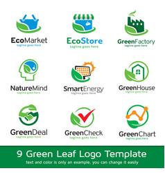 Green logo template vector