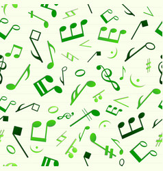 Green music seamless pattern vector
