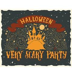 Halloween grunge greeting card vector