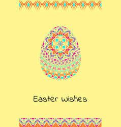 Happy easter background with easter egg mandalas vector