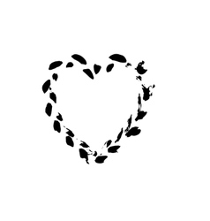 heart shape symbol love black vector image vector image