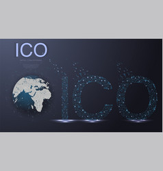 Ico initial coin offering futuristic hud vector