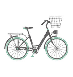 image with retro bicycle vector image