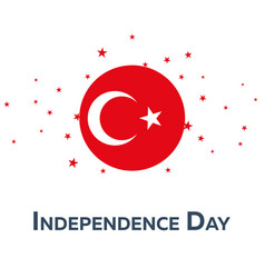 independence day of turkey patriotic banner vector image