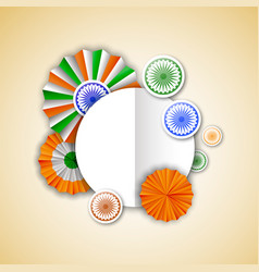 India independence empty greeting card template vector
