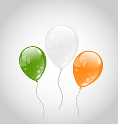 Irish colorful balloons for St Patricks Day vector