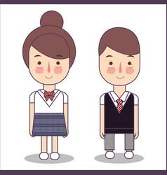 Junior high school students design of japan vector