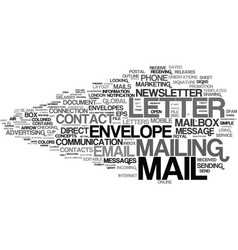 Mailing word cloud concept vector
