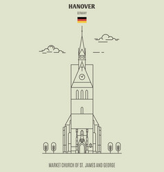 Market church of st james and george in hanover vector