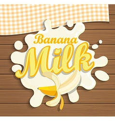 Milk banana splash vector image
