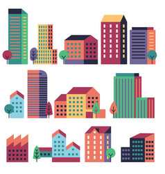 minimal buildings city skyline geometric urban vector image