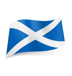 national flag of scotland white cross on blue vector image vector image