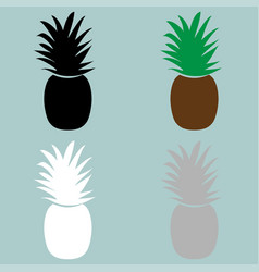 Nature color pineapple icon vector