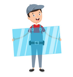 of glass worker vector image