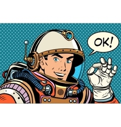 OK astronaut man okay gesture well vector image