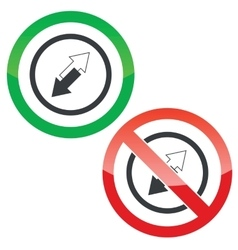 Opposite permission signs vector
