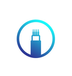 Optic cable bandwidth icon vector
