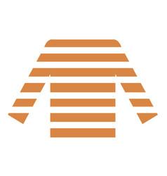 Orange blouse flat vector