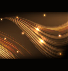 Orange light line wave abstract background vector